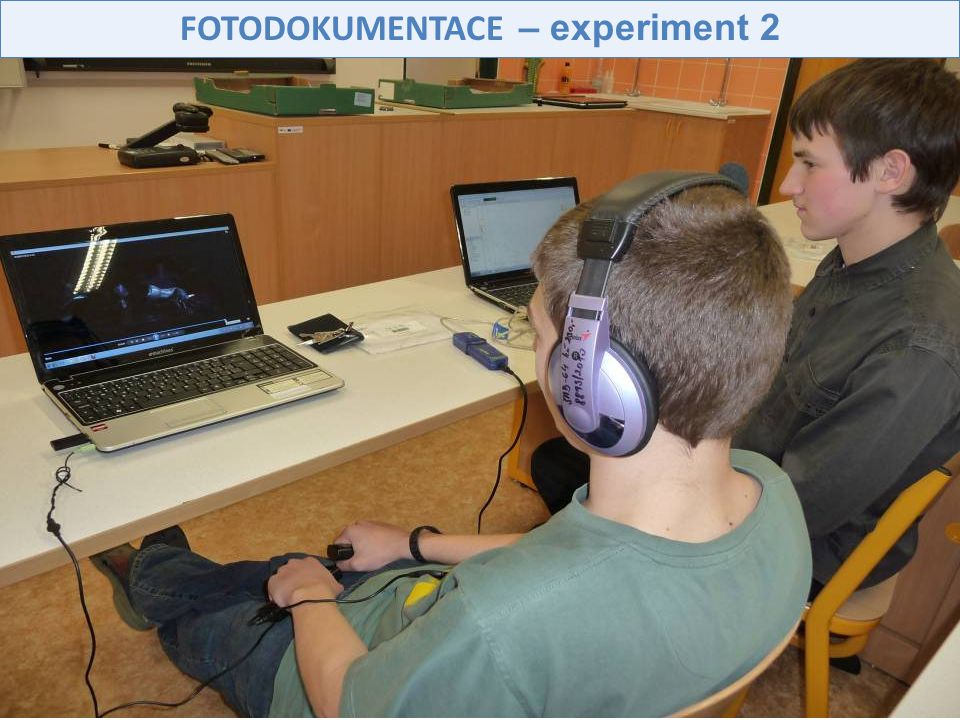 FOTODOKUMENTACE – experiment 2