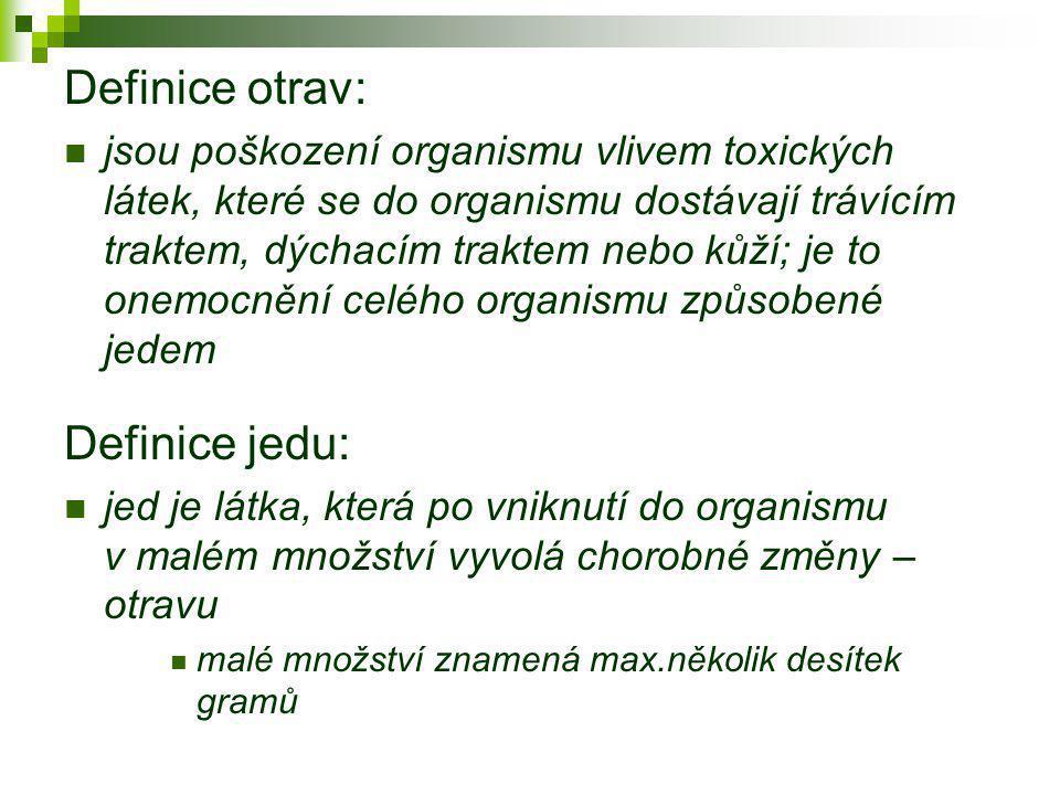 Definice otrav: Definice jedu: