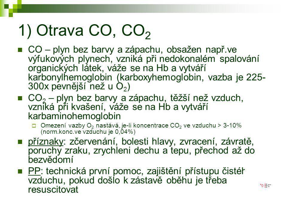 1) Otrava CO, CO2
