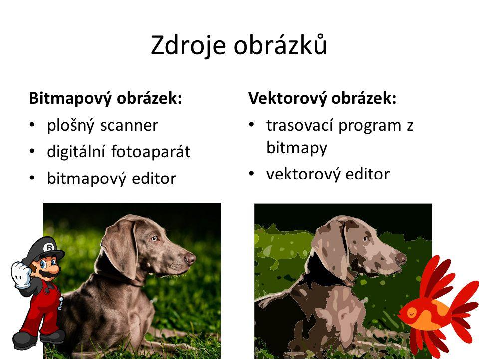 Zdroje obrázků Bitmapový obrázek: plošný scanner digitální fotoaparát