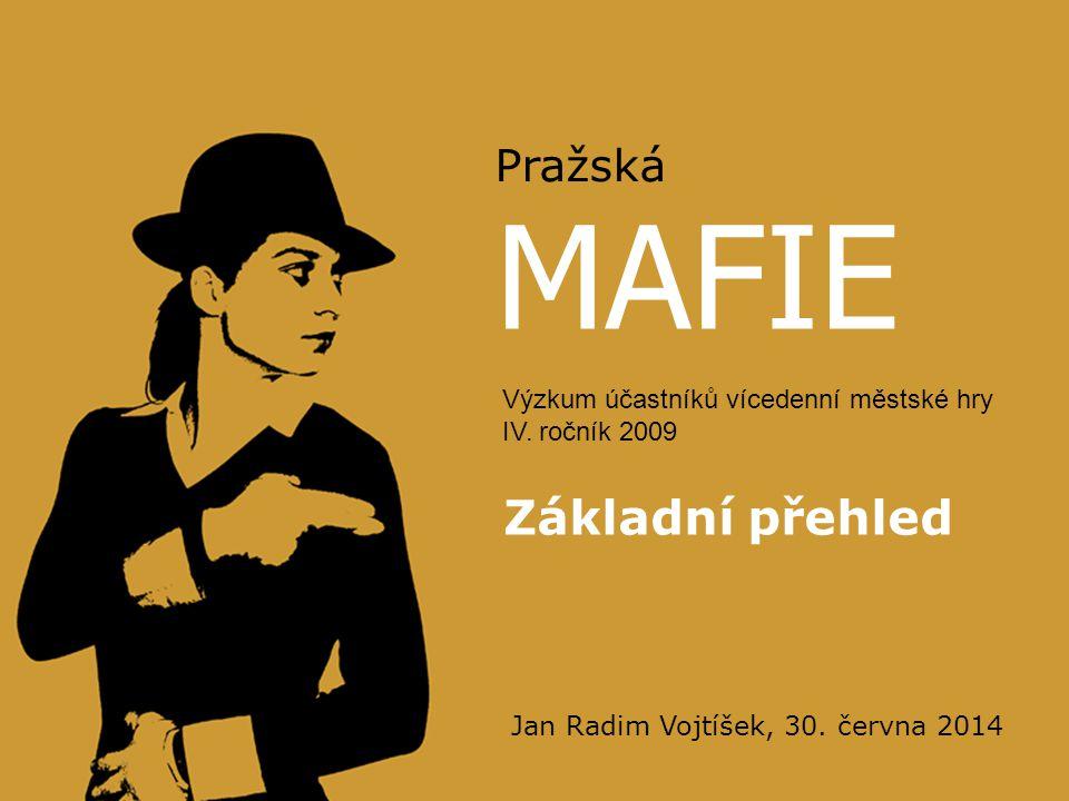 MAFIE Základní přehled Pražská Výzkum účastníků vícedenní městské hry