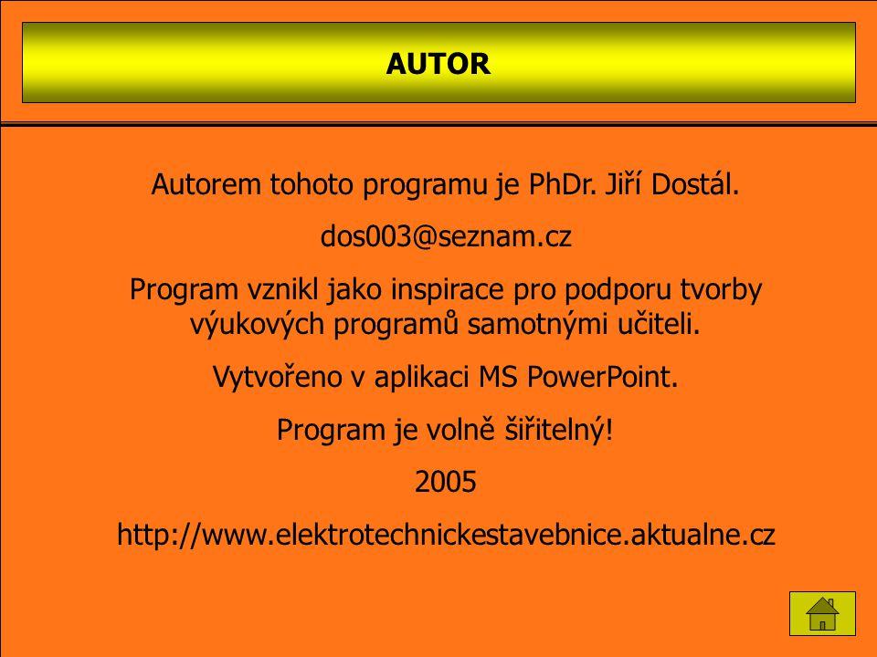 Autorem tohoto programu je PhDr. Jiří Dostál. dos003@seznam.cz