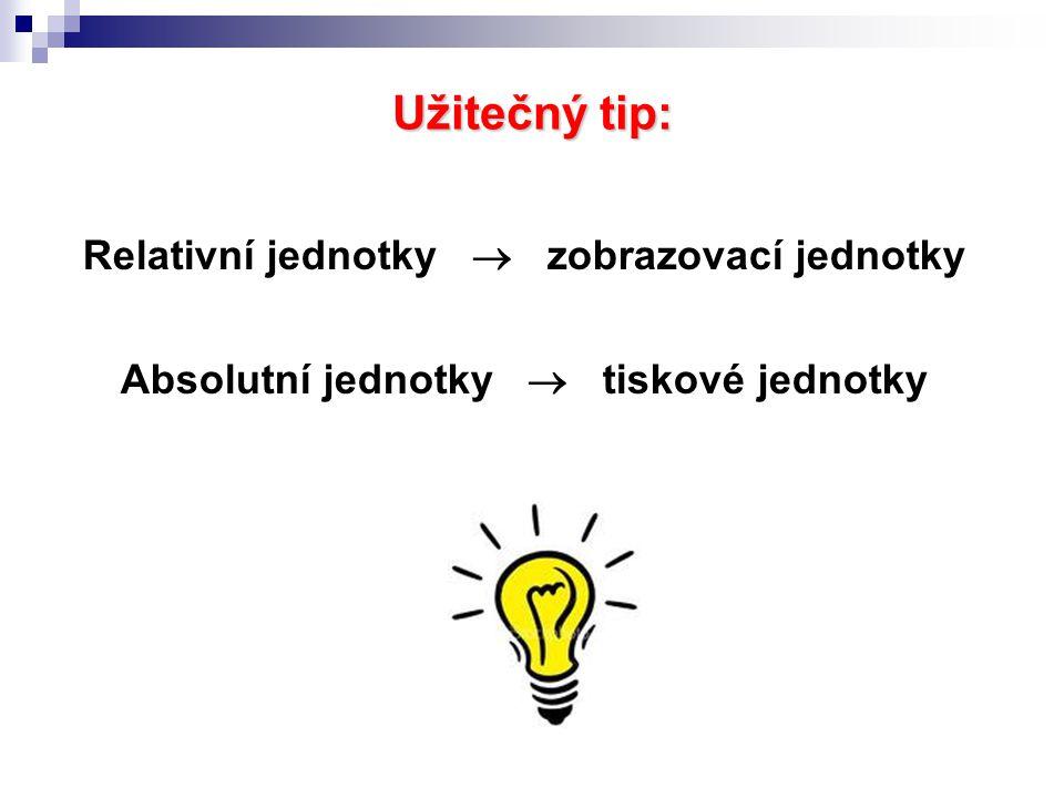 Užitečný tip: Relativní jednotky  zobrazovací jednotky