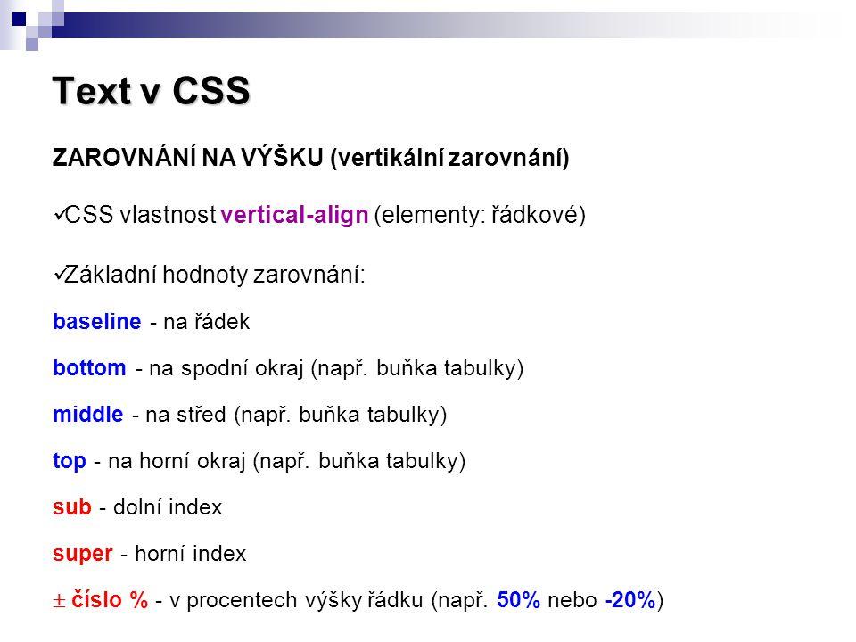 Text v CSS ZAROVNÁNÍ NA VÝŠKU (vertikální zarovnání)