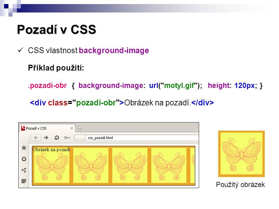 Pozadí v CSS