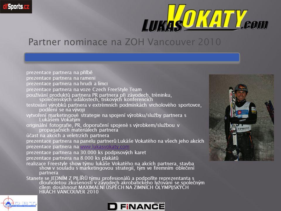Partner nominace na ZOH Vancouver 2010