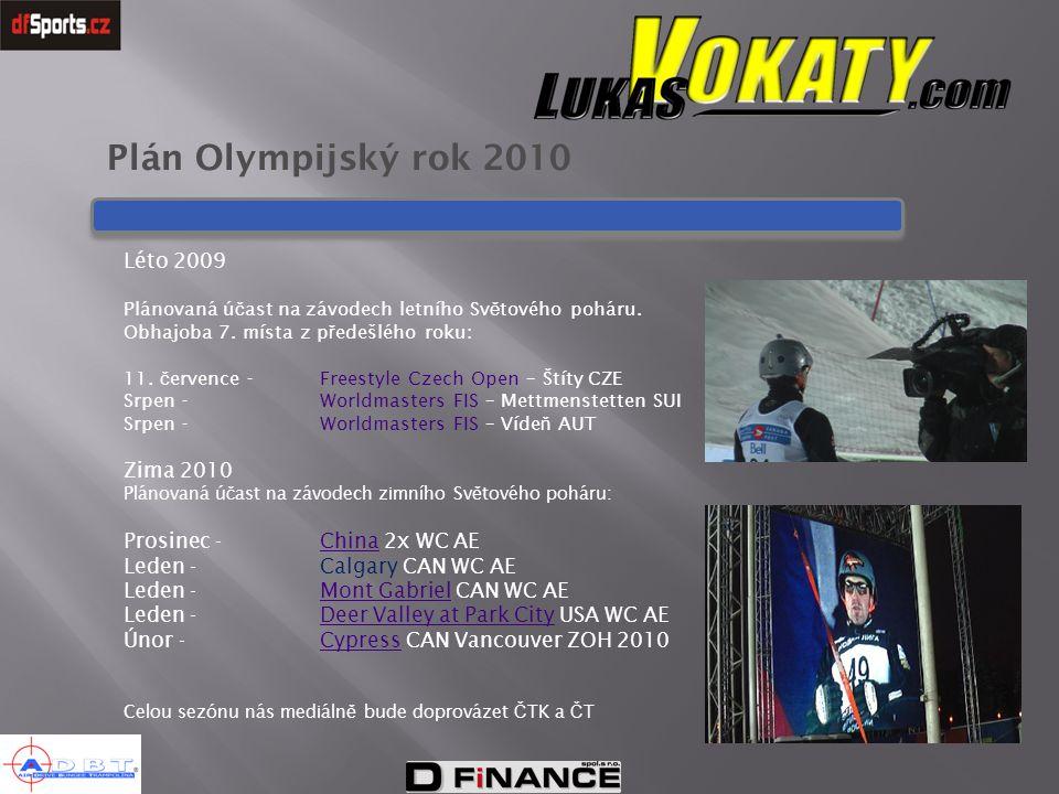 Plán Olympijský rok 2010 Léto 2009 Zima 2010 Prosinec - China 2x WC AE