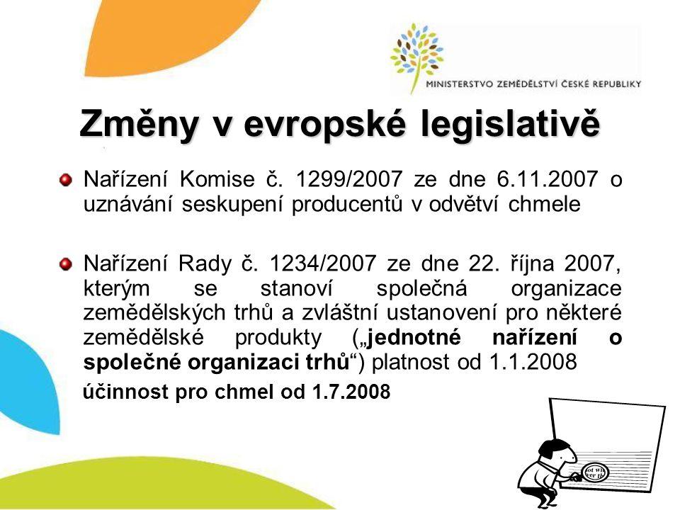 Změny v evropské legislativě