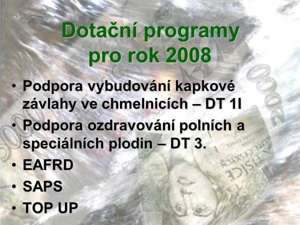 Dotační programy pro rok 2008