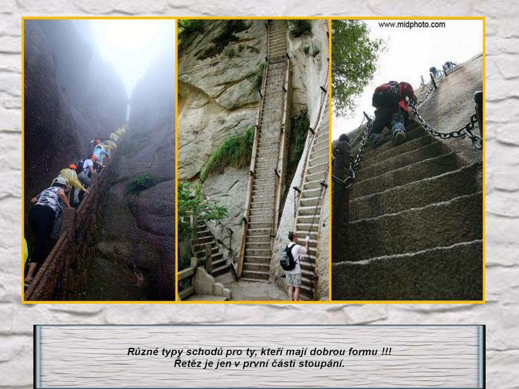 Různé typy schodů pro ty, kteří mají dobrou formu !!!