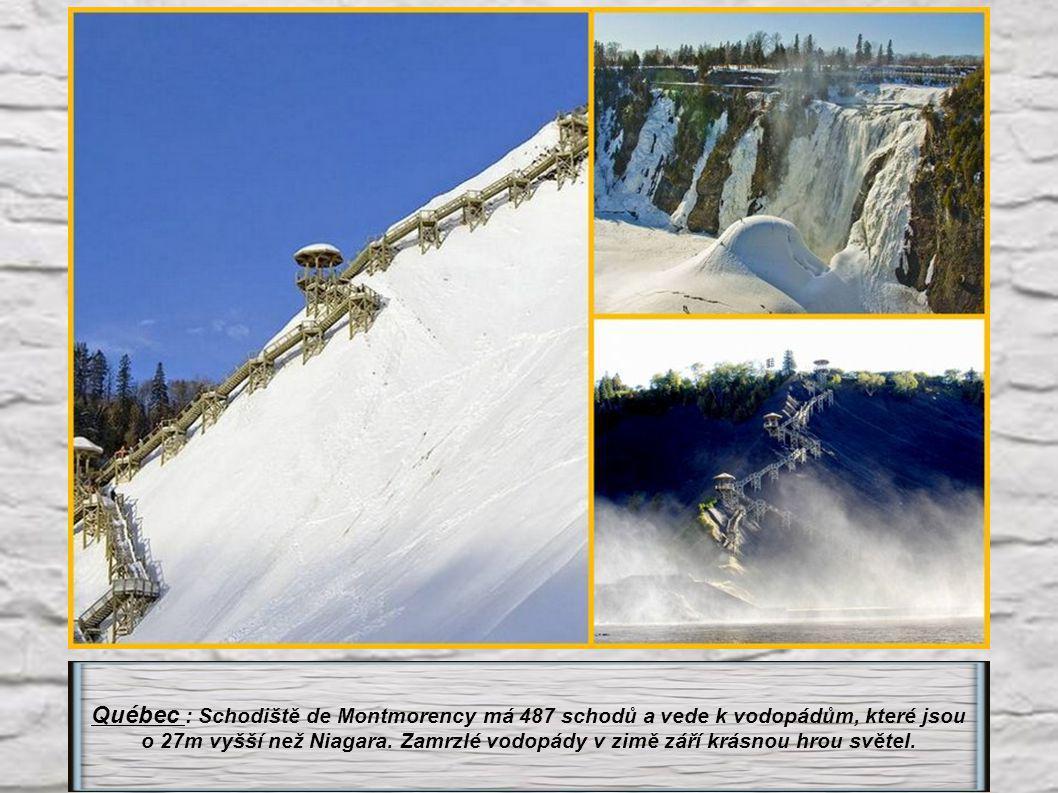 Québec : Schodiště de Montmorency má 487 schodů a vede k vodopádům, které jsou