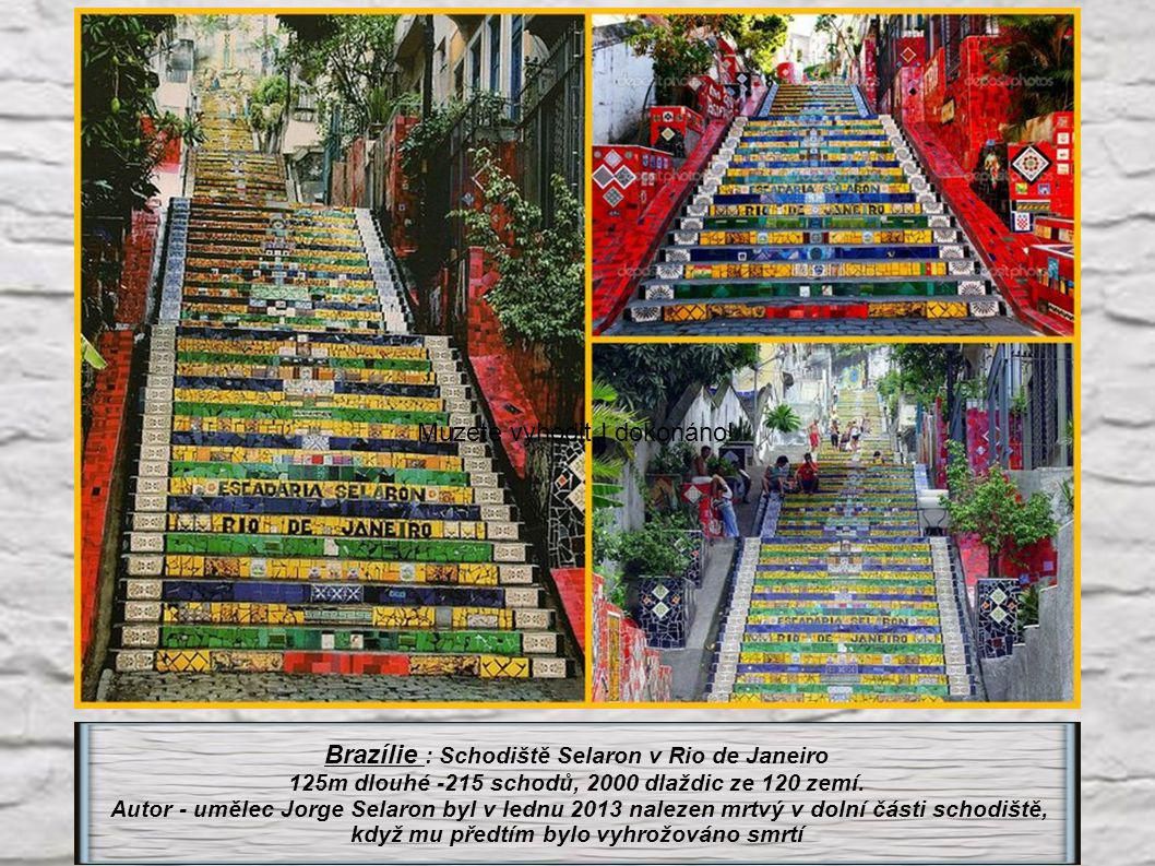 Brazílie : Schodiště Selaron v Rio de Janeiro