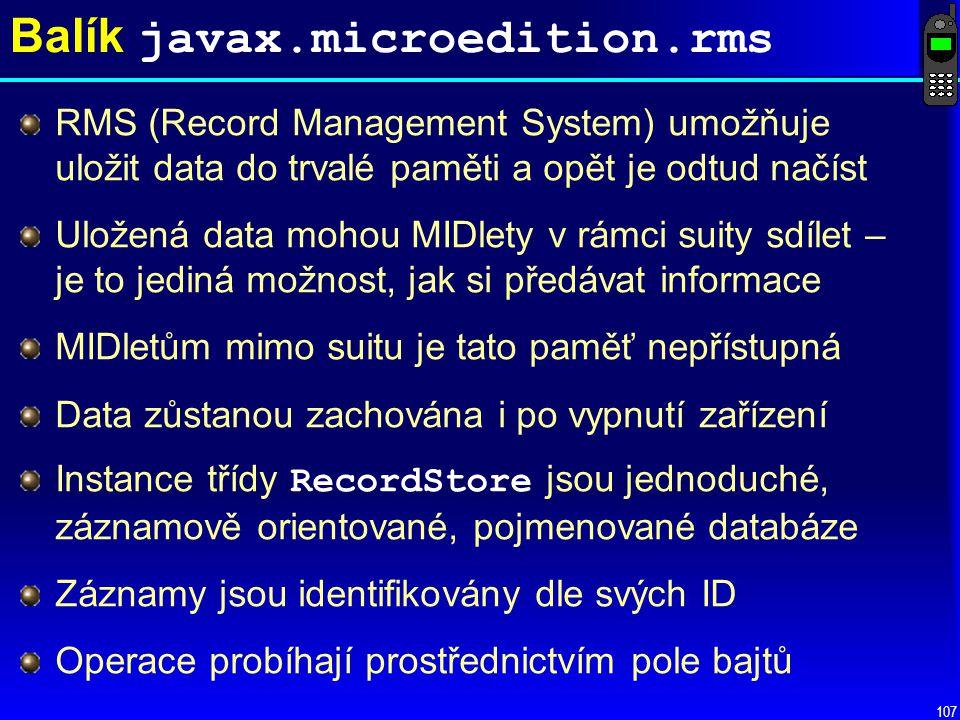 Balík javax.microedition.rms