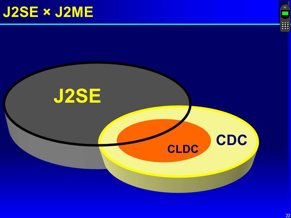 J2SE × J2ME J2SE CDC CLDC