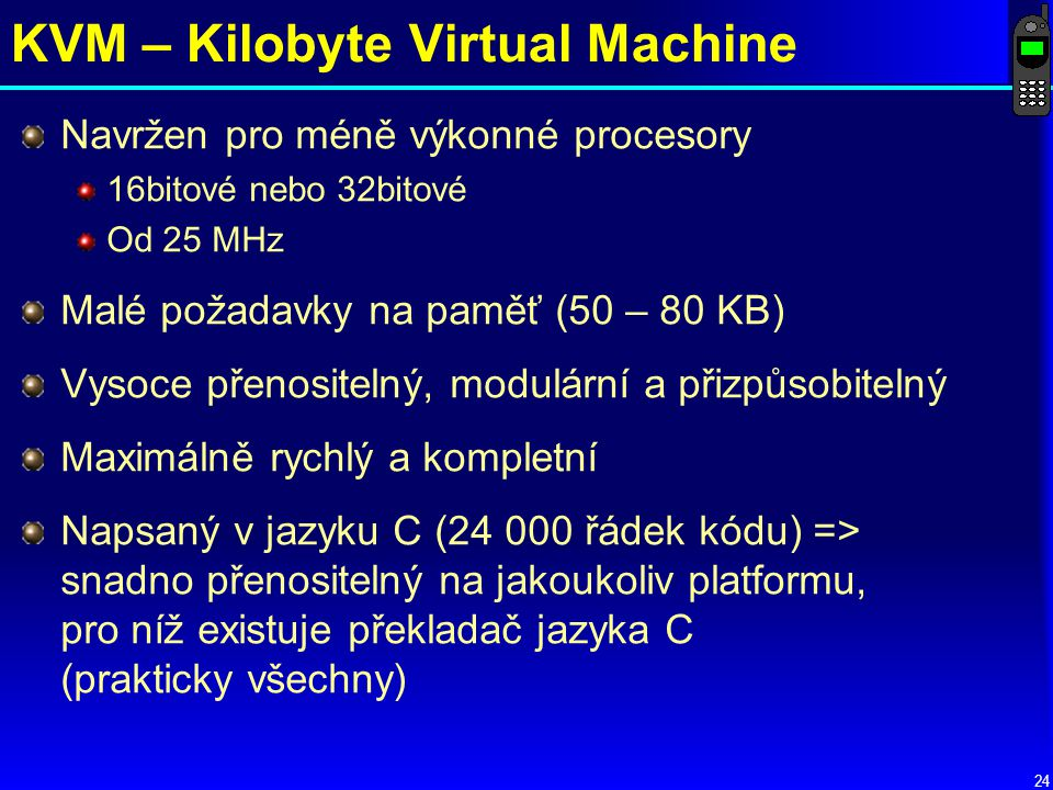 KVM – Kilobyte Virtual Machine