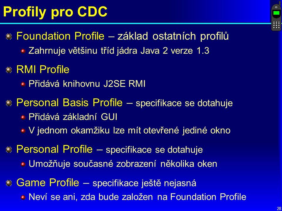 Profily pro CDC Foundation Profile – základ ostatních profilů