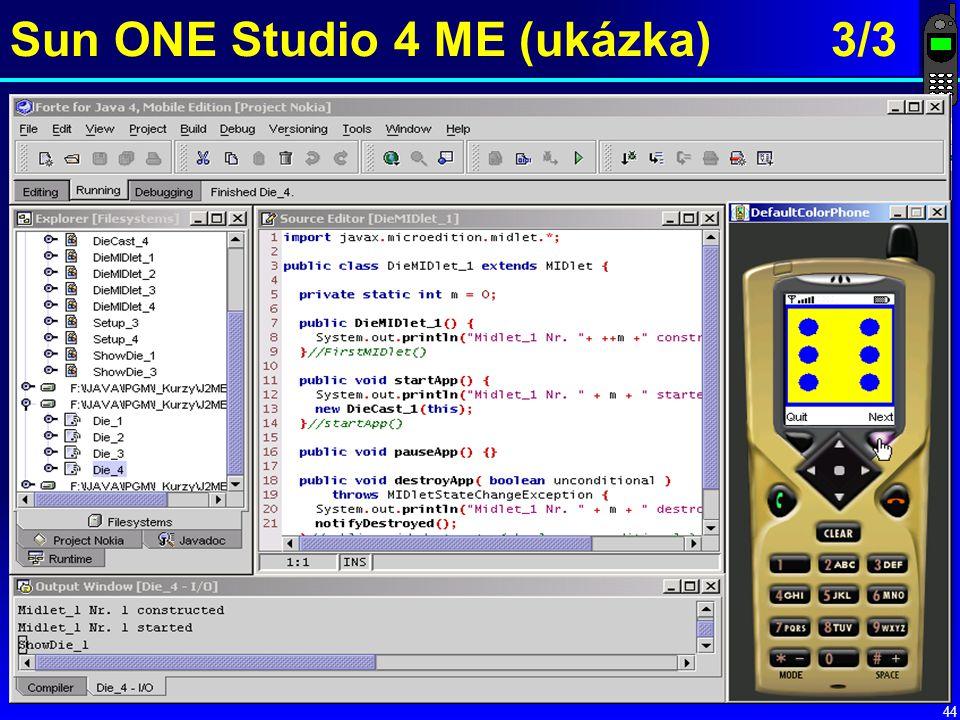 Sun ONE Studio 4 ME (ukázka) 3/3