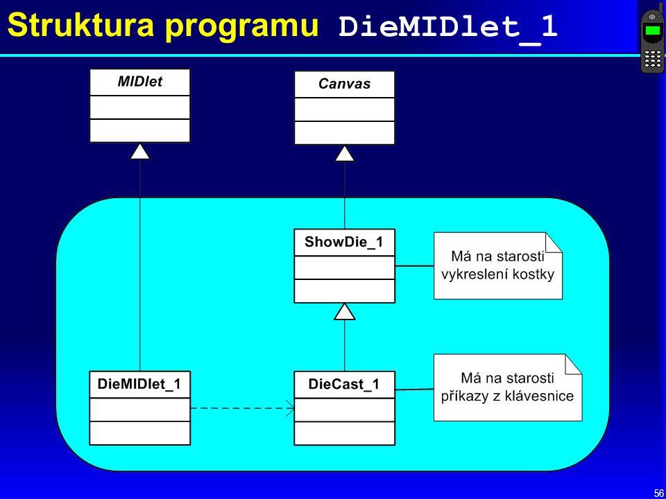 Struktura programu DieMIDlet_1