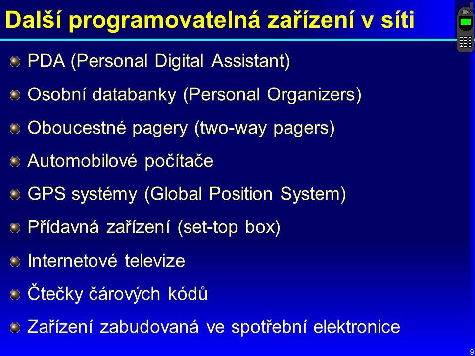 Další programovatelná zařízení v síti