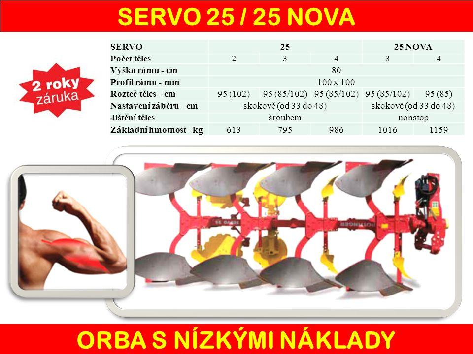 SERVO 25 / 25 NOVA ORBA S NÍZKÝMI NÁKLADY