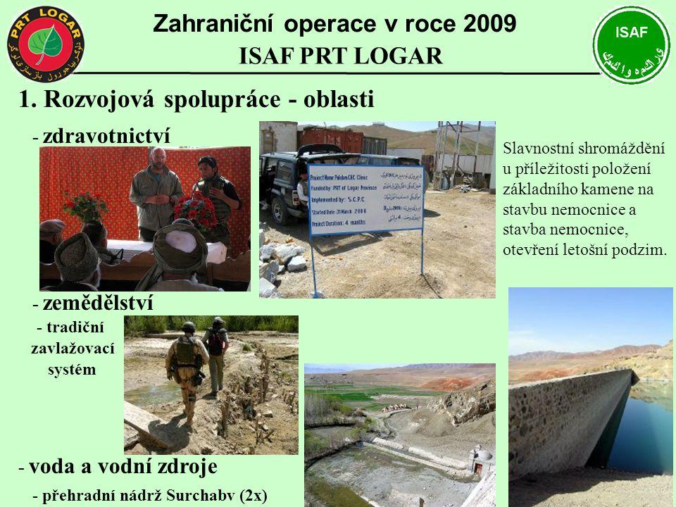 Zahraniční operace v roce 2009