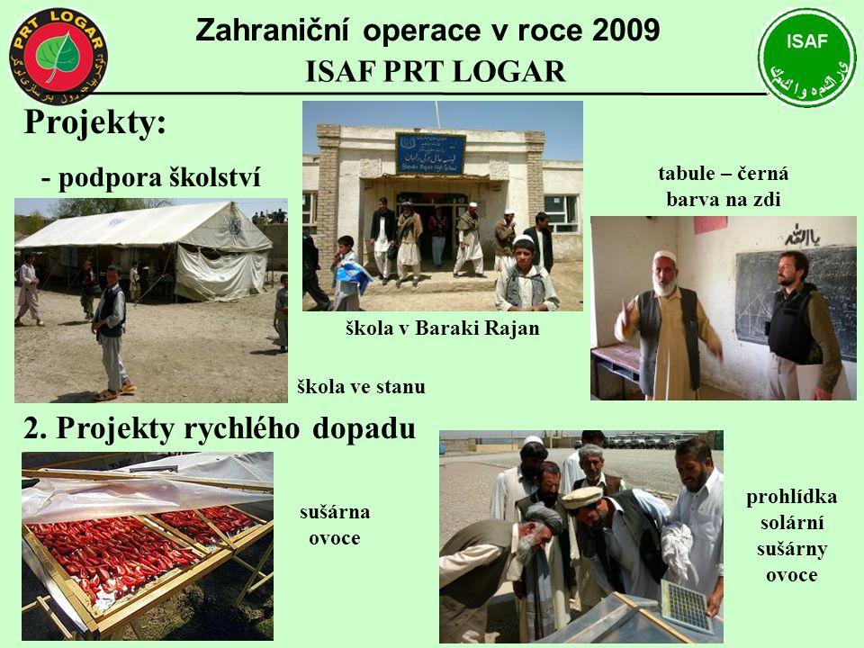 Projekty: 2. Projekty rychlého dopadu Zahraniční operace v roce 2009