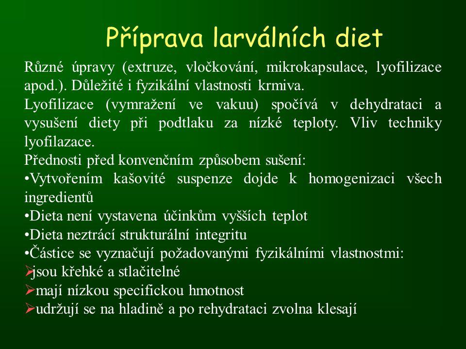 Příprava larválních diet
