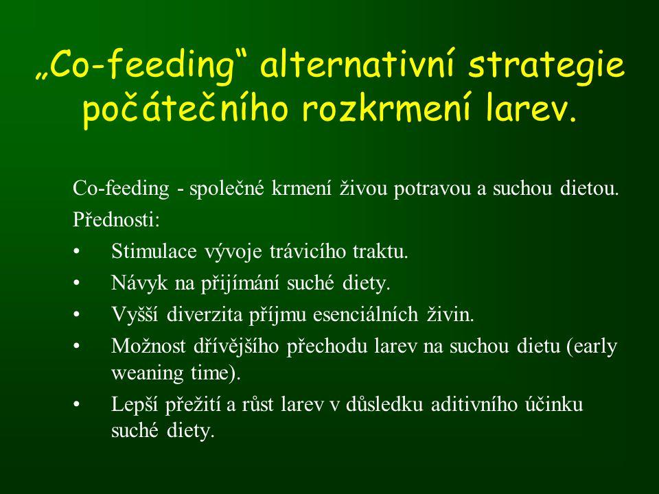 """""""Co-feeding alternativní strategie počátečního rozkrmení larev."""