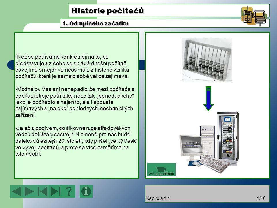 Historie počítačů 1. Od úplného začátku