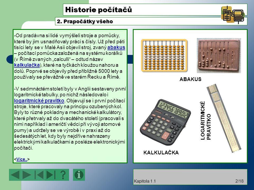 Historie počítačů 2. Prapočátky všeho