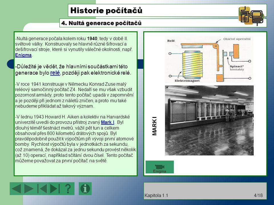 Historie počítačů 4. Nultá generace počítačů