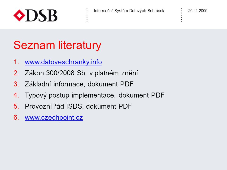 Seznam literatury www.datoveschranky.info