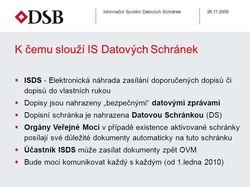 K čemu slouží IS Datových Schránek