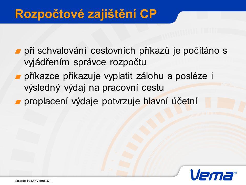 Rozpočtové zajištění CP