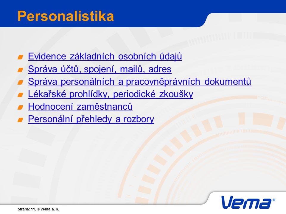Personalistika Evidence základních osobních údajů