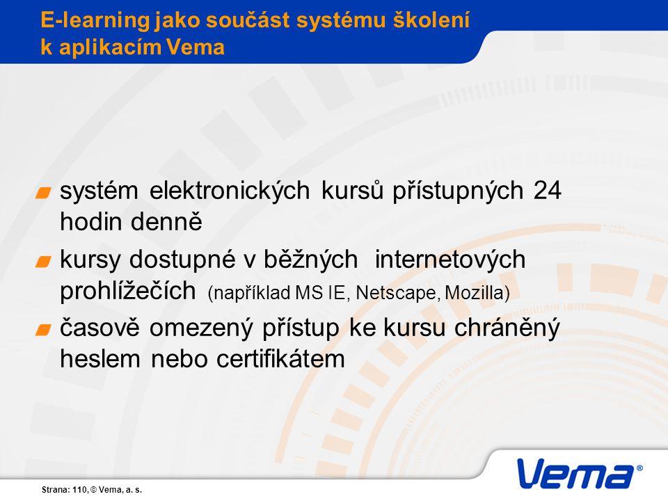 E-learning jako součást systému školení k aplikacím Vema