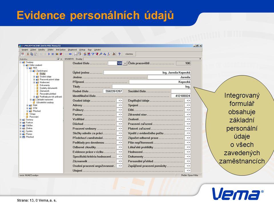 Evidence personálních údajů