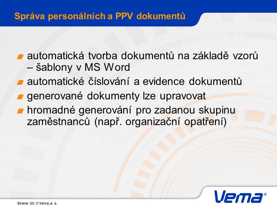 Správa personálních a PPV dokumentů