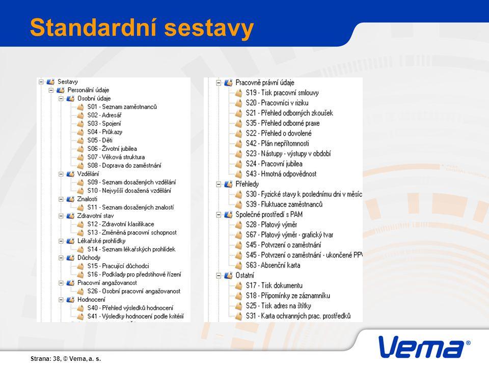 Standardní sestavy