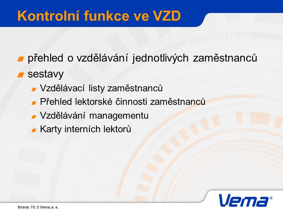 Kontrolní funkce ve VZD