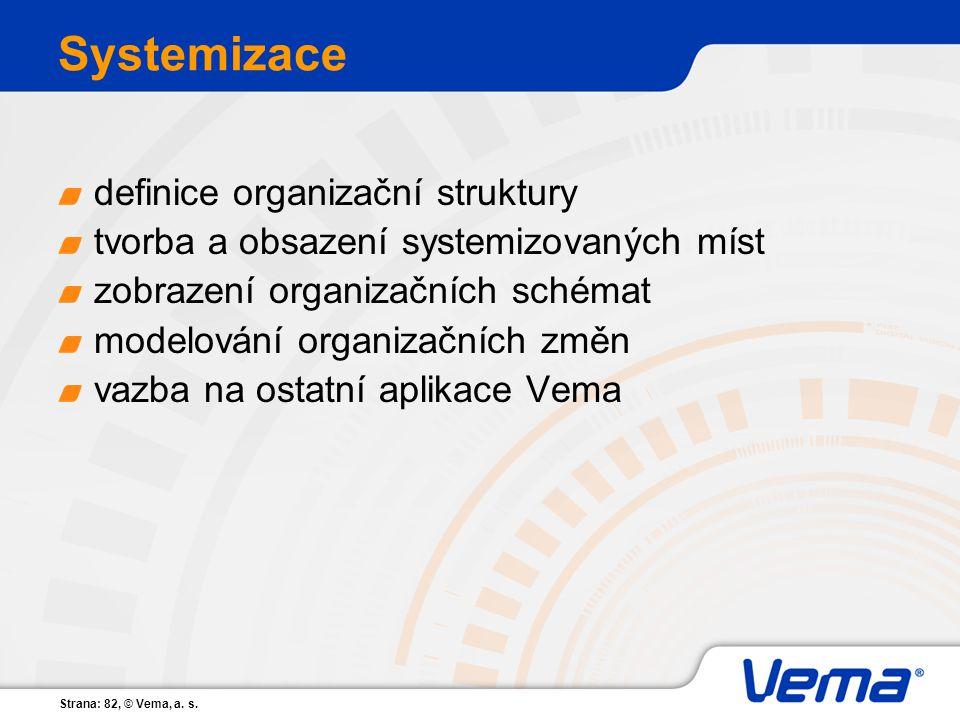 Systemizace definice organizační struktury