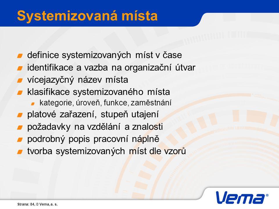 Systemizovaná místa definice systemizovaných míst v čase