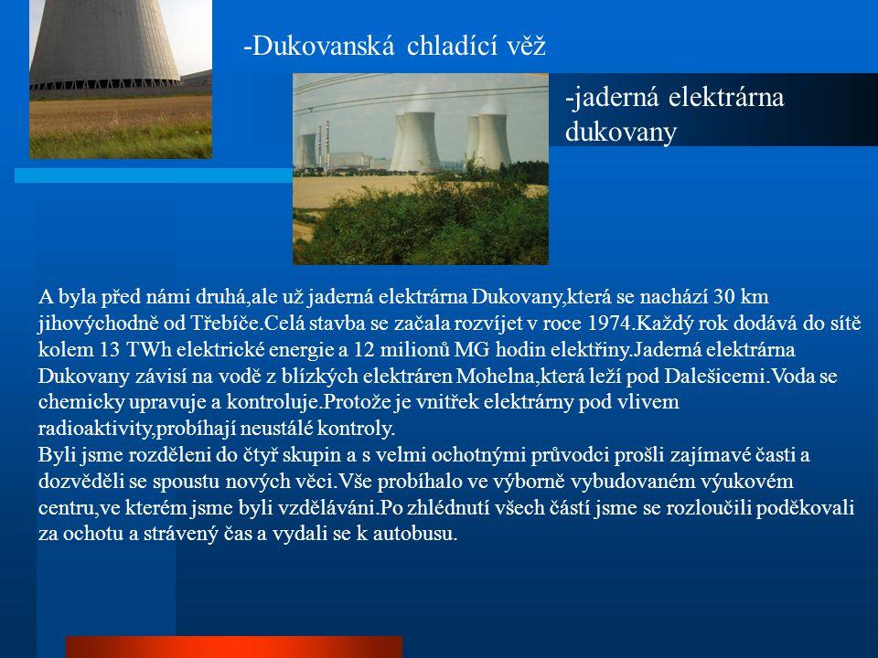 -Dukovanská chladící věž