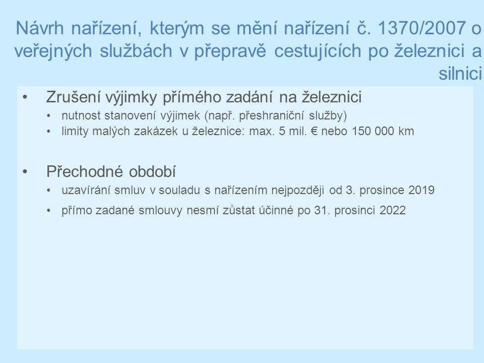Návrh nařízení, kterým se mění nařízení č