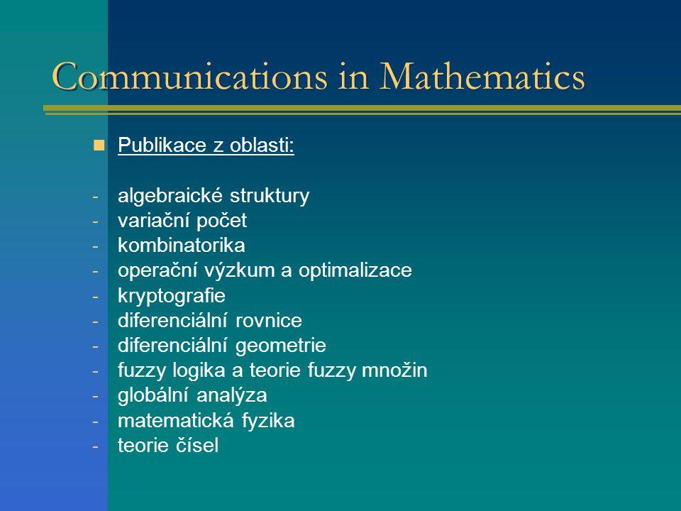 Communications in Mathematics