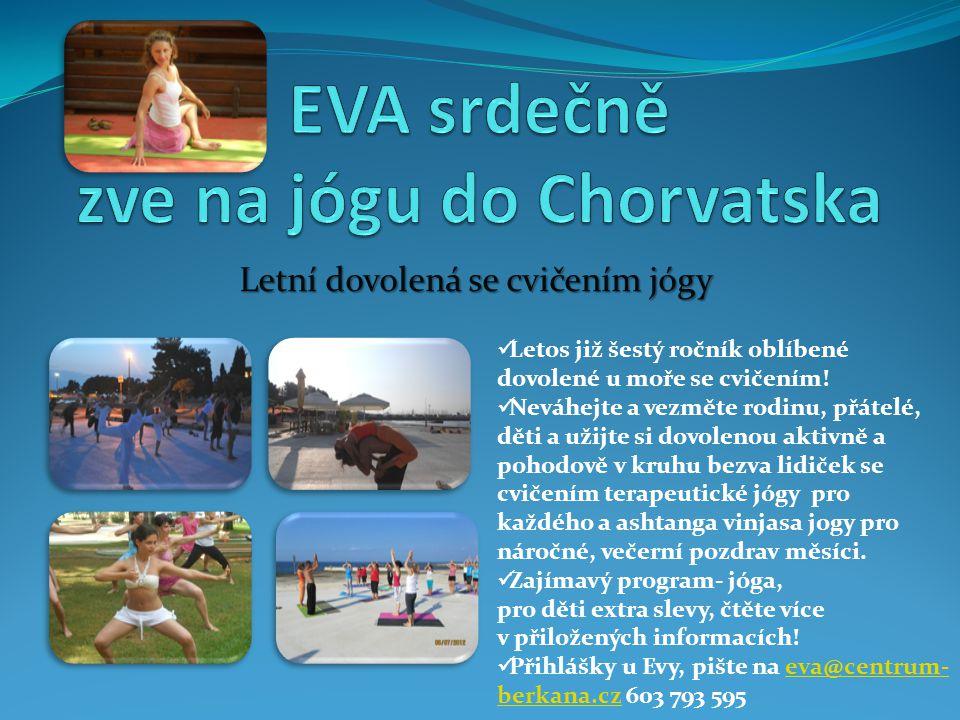 EVA srdečně zve na jógu do Chorvatska