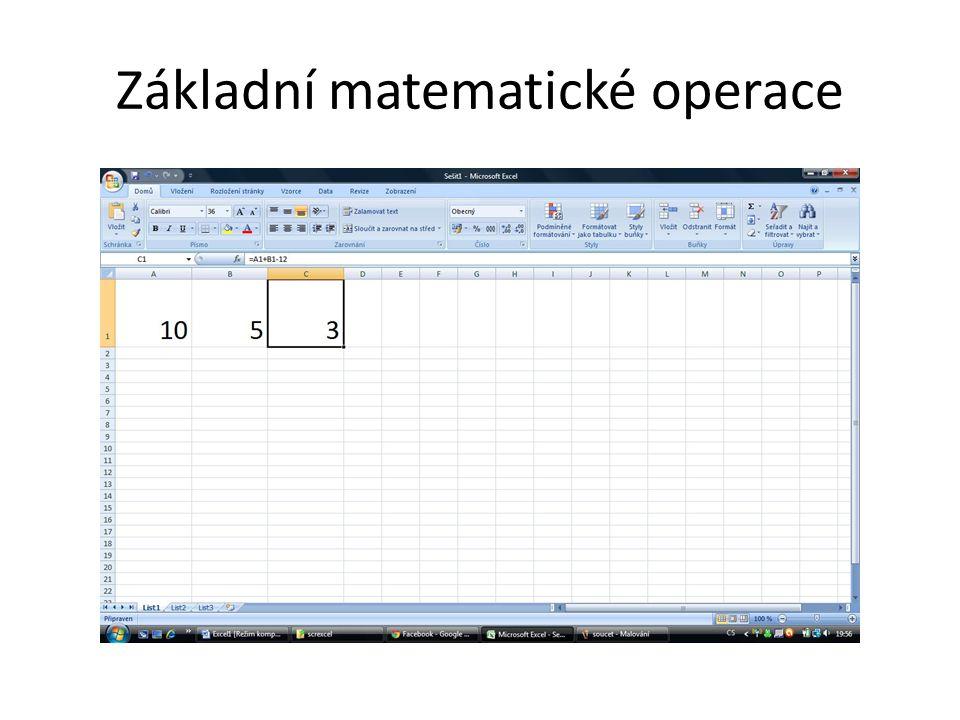 Základní matematické operace