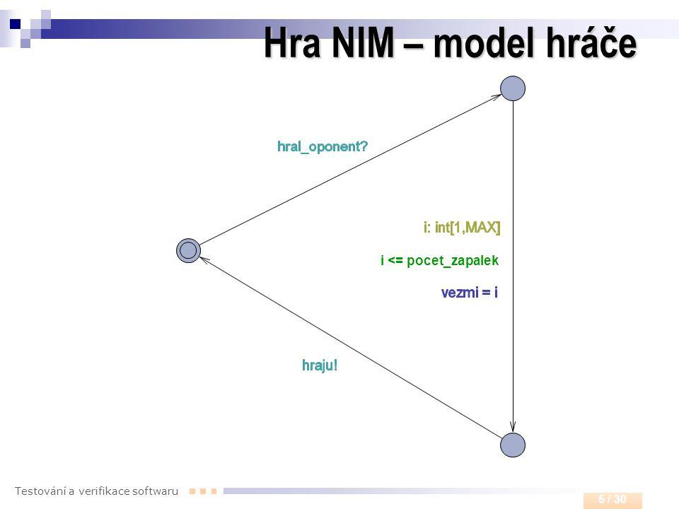 Hra NIM – model hráče i <= pocet_zapalek