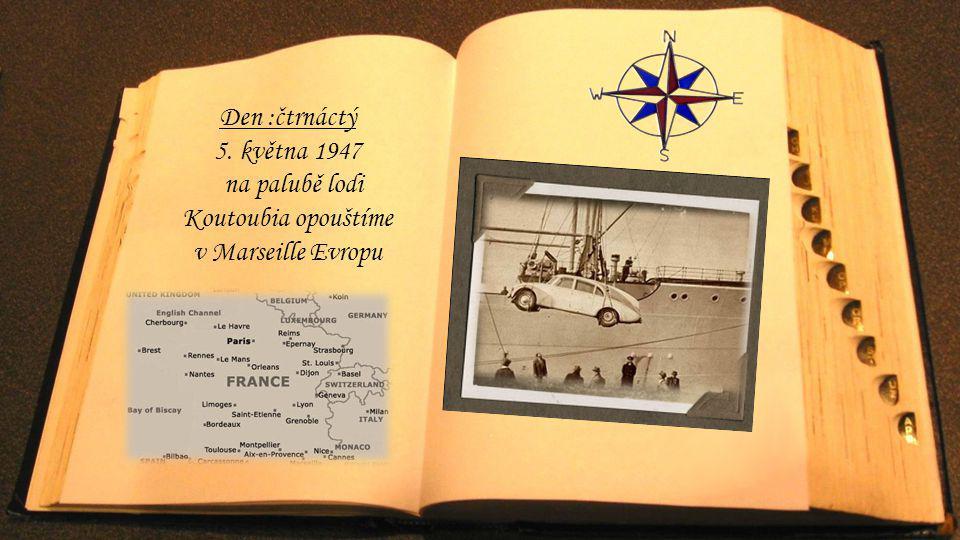 na palubě lodi Koutoubia opouštíme