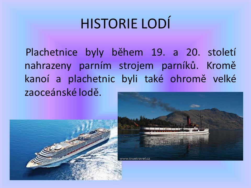 HISTORIE LODÍ